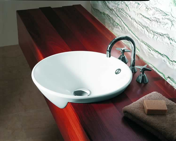 caroma sinks products caroma leda vasque semi recessed. Black Bedroom Furniture Sets. Home Design Ideas